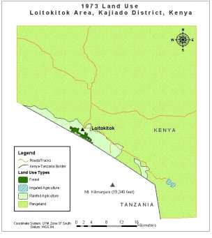 1973 Land Use, Loitokitok Area, Kajiado District, Kenya
